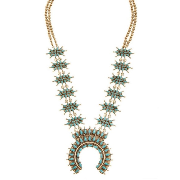 Lucky Brand Jewelry - Lucky Brand Squash Blossom Boho Necklace